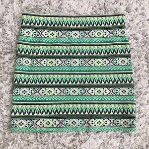 F21- tribal/boho mini skirt (S)